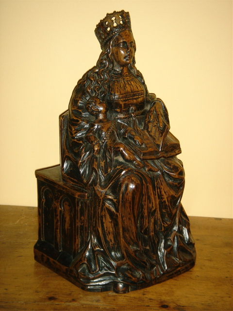 16th/17th Century Devotional Walnut Carving