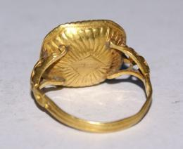 16th/17th Century Ornate Gold Ring With A Bloodstone