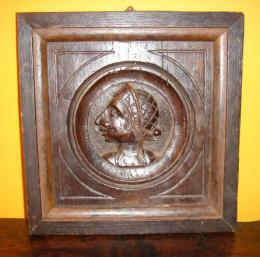 16th Century Carved Oak Panel