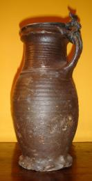 16th Century Thumb Base Stoneware Jug
