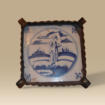 17th Century Blue And White Dutch Tile