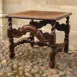 17th Century Caned Stool