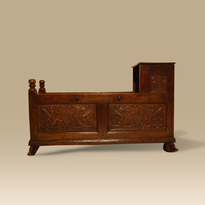 17th Century Oak Cradle