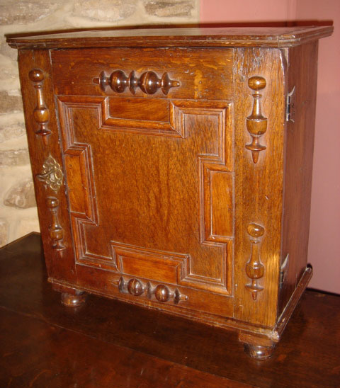 17th Century Oak Spice Cabinet - 17th Century Oak Spice Cabinet UK - Antique Cupboards - Antique Oak
