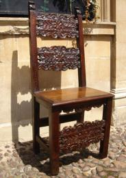 17th Century Spanish Walnut Back Stool