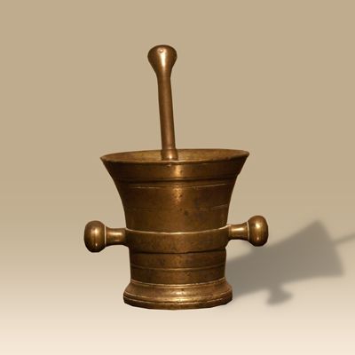 18th Century Bronze Pestle And Mortar
