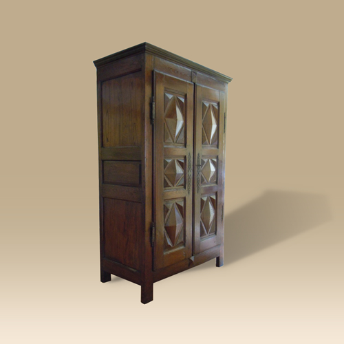 18th Century Oak  Armoire From Northern France