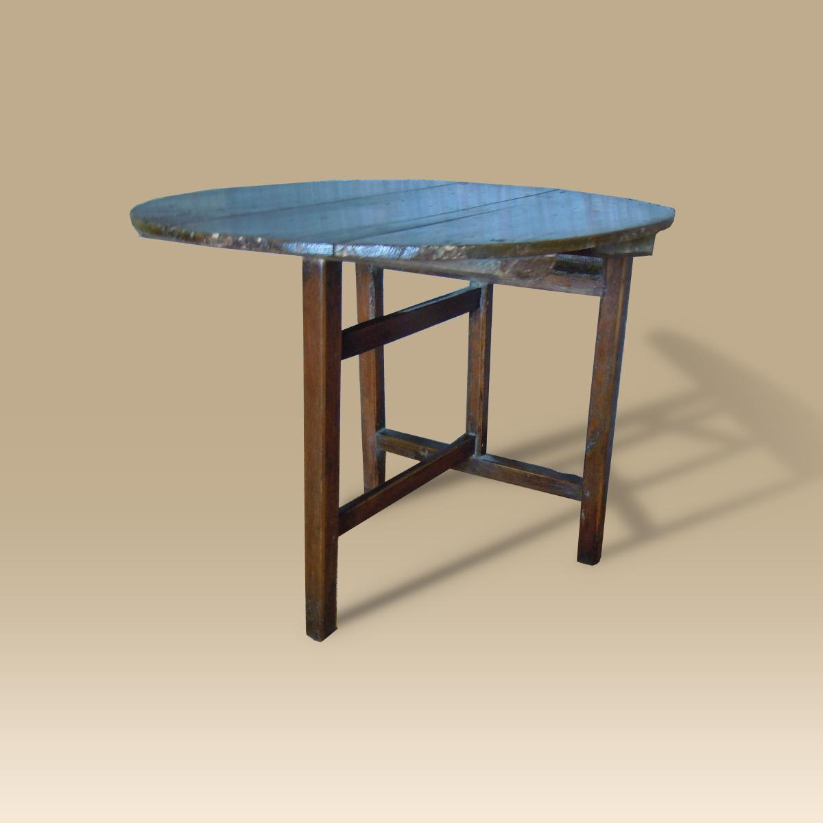 18th Century Oak Folding Coaching Table Uk Antique