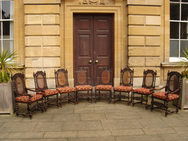 19th Century Carolean Style Chairs