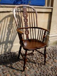 19th Century Windsor High Back Armchair