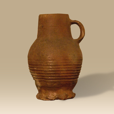 A 15th Century Hand Thrown Thumbprint Jug