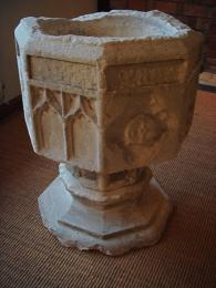 A 15th Century Medieval Gothic Stone Font