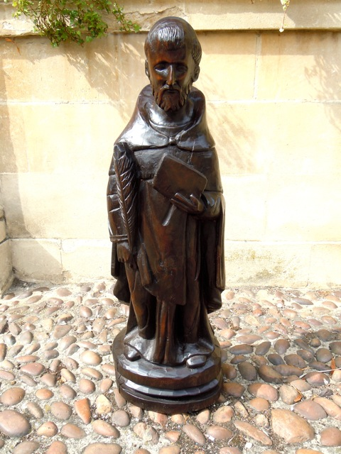 A 16th Century Or Earlier Walnut Statue Of A Saint