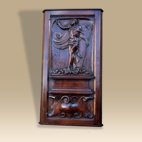 A 16th century walnut panel