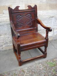 A 17th Century Joined Oak Wainscot Chair