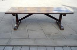 A 17th Century Oak, Beech and Chestnut Trestle Table