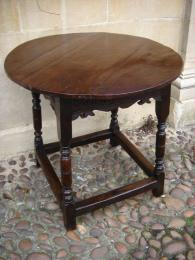 A 17th Century Oak Circular Table