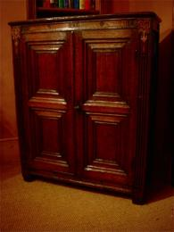 A 17th Century Oak Cupboard Of Small Proportions