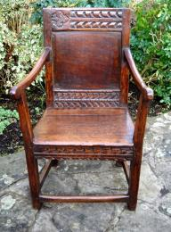 A 17th Century Oak Joined Chair