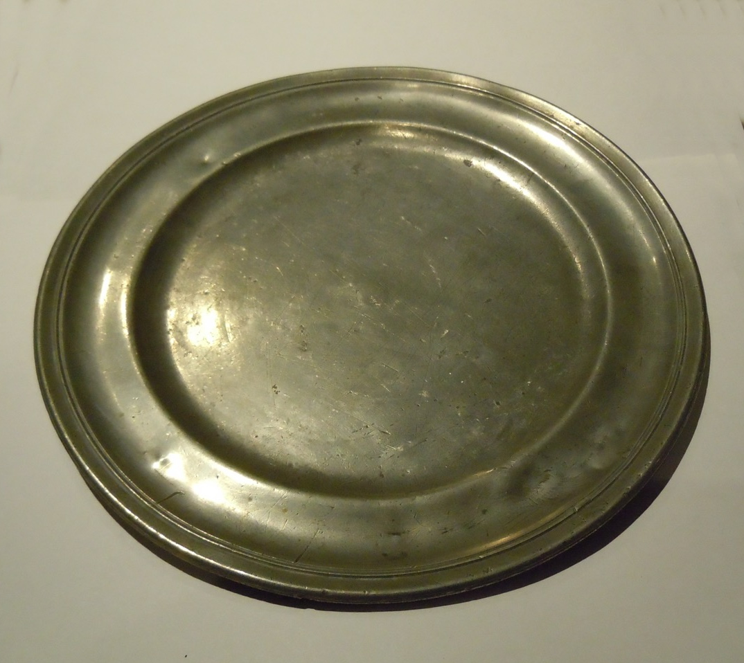 A 17th Century Pewter Plate