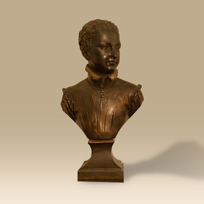 A Bronze/Brass Bust By Repute Of A Young Henry VI