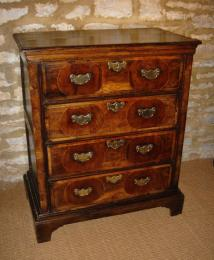 A Circa 1700 Oak Norfolk Press Fitted With Four Long Drawers