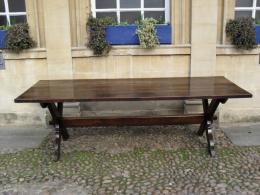 A Circa 1700 Oak Trestle Table