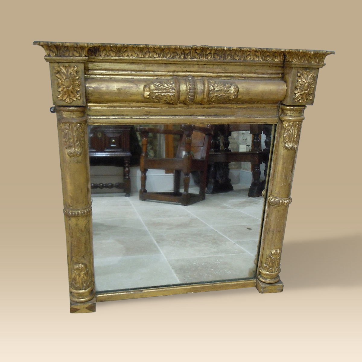 A good early 19th century gilded mirror