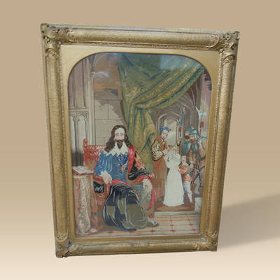 A Large Early 19th Century Needlework In The Original Frame