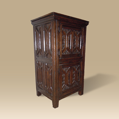 A Late 15th Century Early 16th Century Oak Gothic Cupboard