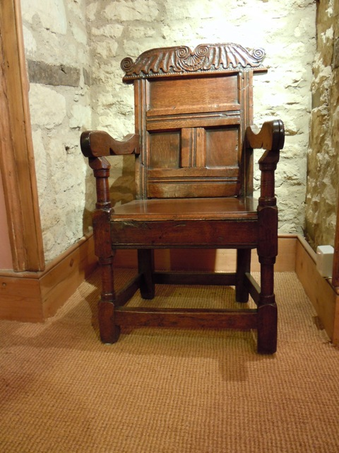 A Late 16 Century - Early 17th Century Oak Wainscot Chair