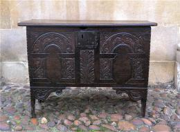 A Late 16th Century Early 17th Century Oak Coffer