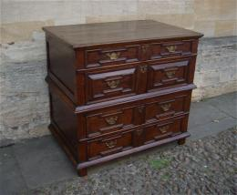 A Late 17th Century Geometrically Moulded Oak Chest Of Drawers