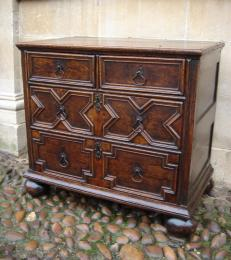 A Late 17th Century Oak And Walnut Chest Of Drawers