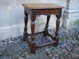 A Late 17th Century Oak Joined Stool