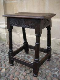 A Late 17th Century Oak Joint Stool