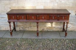 A Late 17th Century Oak Low Dresser.