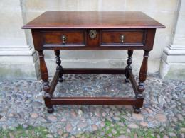 A Late 17th Century Yew Wood Side Table