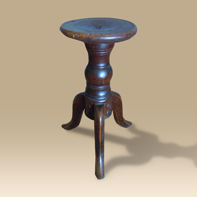 A Late 18th Early 19th Century Oak Cheese Stool.