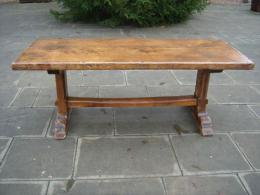 A Late 19th Century Oak Trestle Table