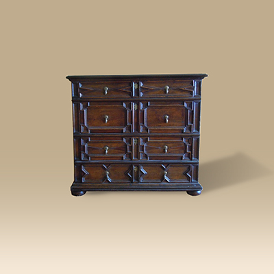 A Mid 17th Century Oak Chest Of Drawers