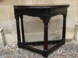 A Mid 17th Century Oak Credence Table Circa 1640