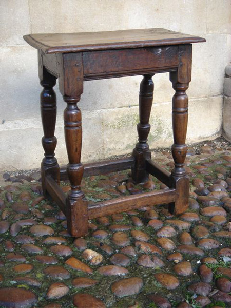 A Mid 17th Century Oak Joined Stool