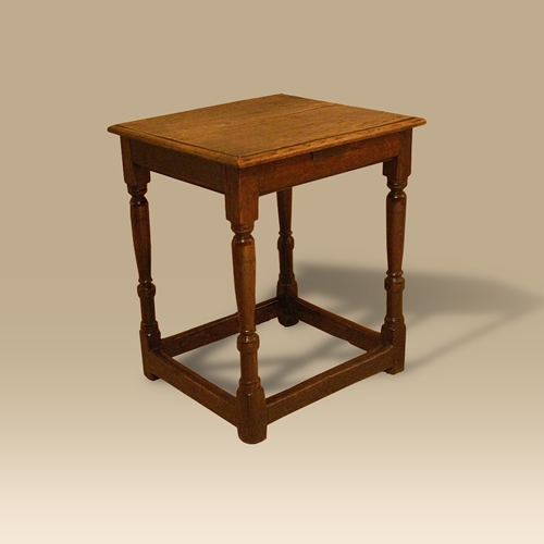 A Mid 17th Century Oak Side Table