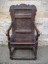 A Mid 17th Century Oak Wainscot Chair
