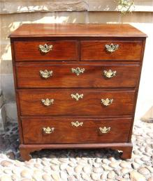 A Mid 18th Century Elm Chest Of Drawers