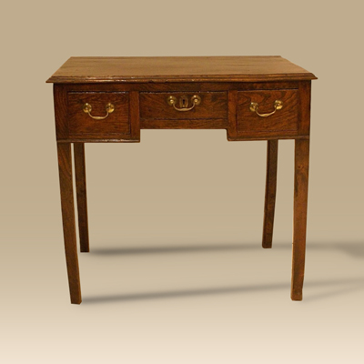 A Mid 18th Century Elm Lowboy Of Fantastic Colour