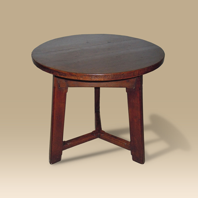 A Mid 19th Century Oak Cricket Table