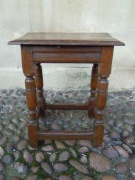 A Mid To Late 17th Century Oak Joint Stool