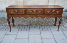 A Mid To Late 18th Century Oak Dresser